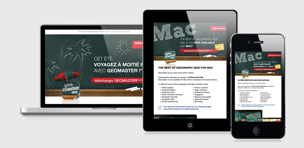 Newsletter de l'application iPhone/iPad Geomaster Plus